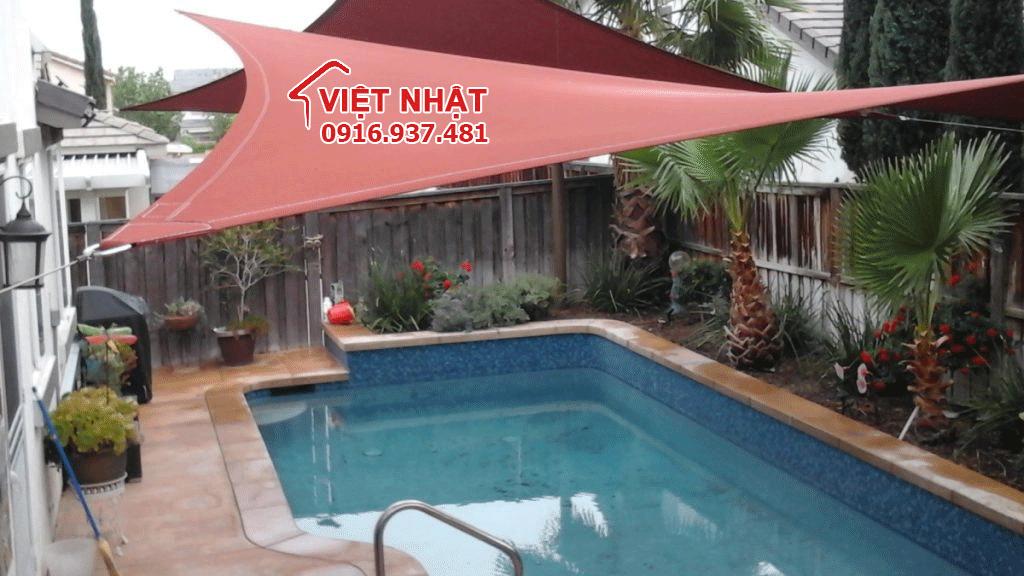 Bạt che bể bơi được thiết kế tại Việt Nhật