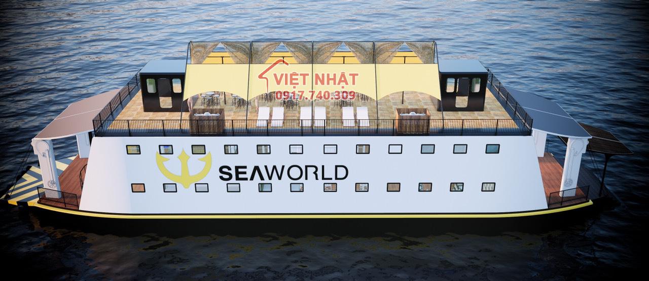 Công trình mái bạt căng : Tàu SEAWORLD , Khu bảo tồn biển Phú Quốc