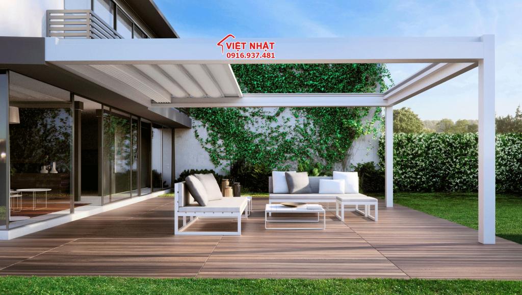 Sử dụng mái che làm cho ngôi nhà của bạn thêm sang trọng