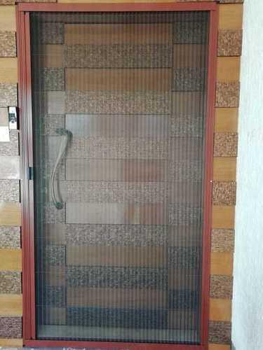 Cửa lưới chống muỗi xếp màu vân gỗ