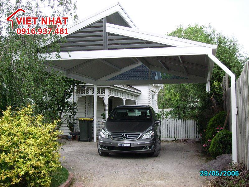 Mái vòm nhà xe