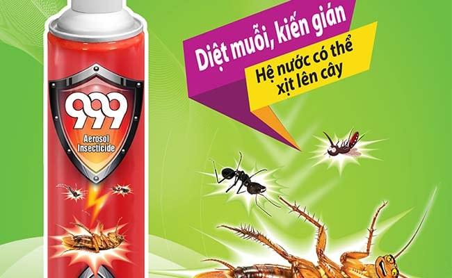 Cần chú ý sử dụng bình xịt côn trùng