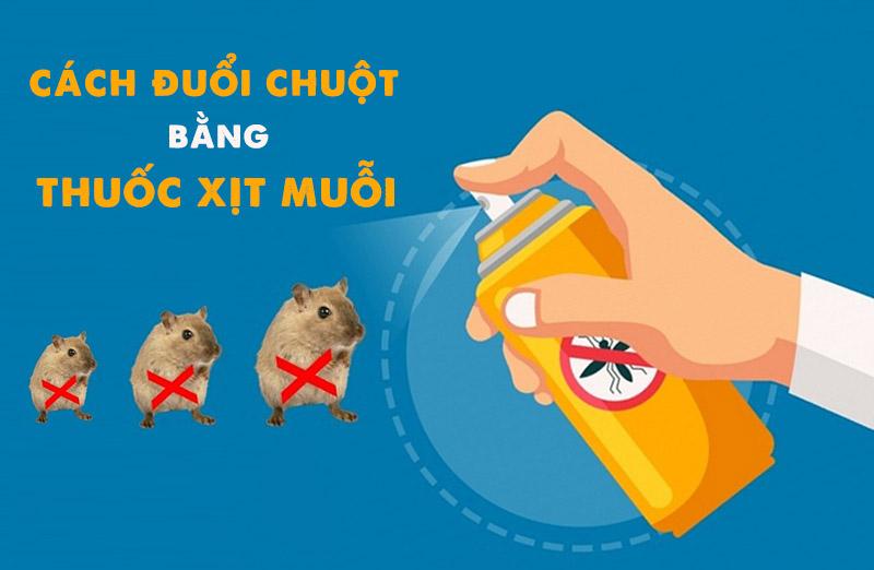 Dùng thuốc xịt muỗi để đuổi chuột