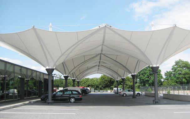 Mái che bãi đậu xe ô tô kiến trúc