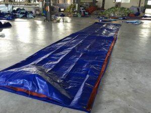 bạt xanh cam khổ 6m