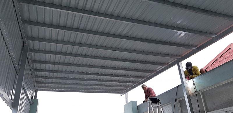 Thiết kế mái che sân trước nhà-3